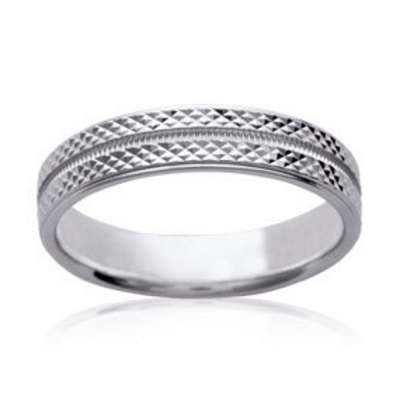 Wedding ring Engagement for Men originale Argent Rhodié