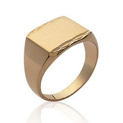 Ring Signet ring for Men Gold plated 18k Engravable