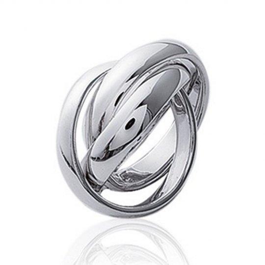 Alliance 3 anneaux entrelacés 4mm Argent - Femme