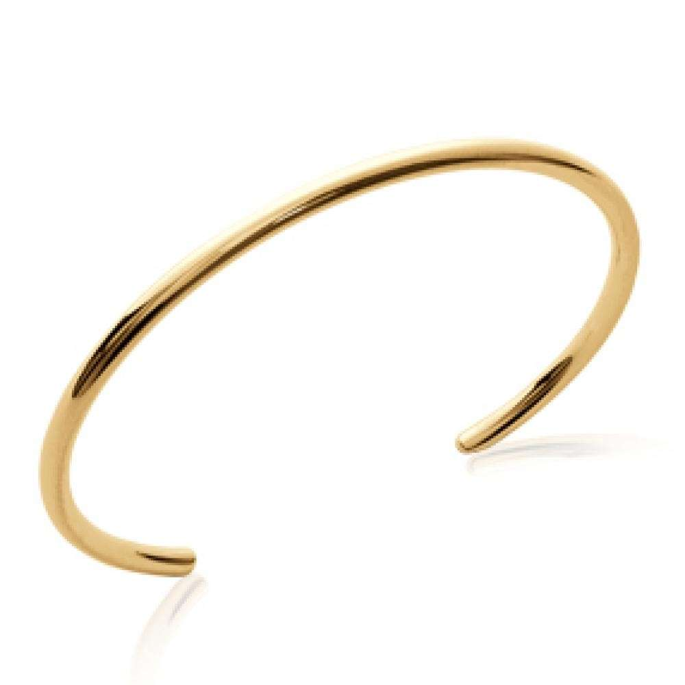 Bracciale Bangle ouvert contemporain Placcato in oro 18k - Uomo/Donna - 56mm