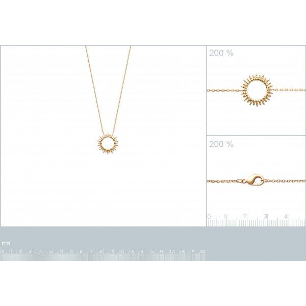 Collana Soleil Placcato in oro 18k - Donna - 45cm