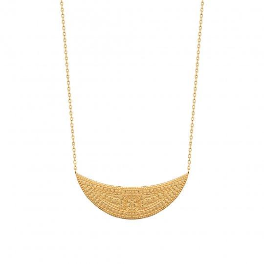 Collar Luna creciente Chapado en Oro 18K - Mujer - 45cm