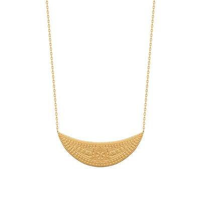 Necklace Crescent Moon Gold plated 18k - Women - 45cm