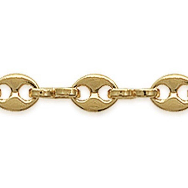 Chain de cou Grain de café 3.5x5mm Gold plated 18k - Women - 45cm