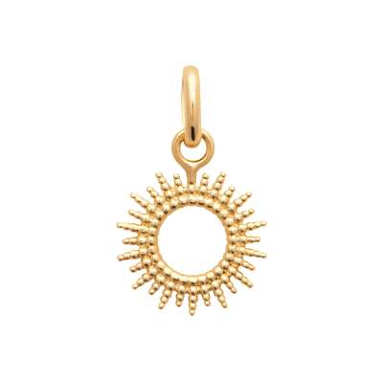 Ciondolo Soleil Perlé Placcato in oro 18k - Donna