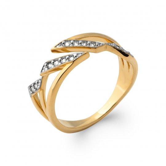 Ringe Vergoldet 18k chic - Oxydes de zirconium - Damen