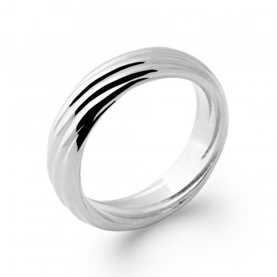 Ring Argent Rhodié torsadée - Women