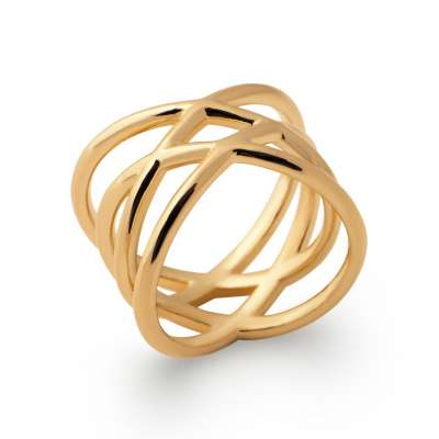 Ring entrelacée Gold plated 18k - Women