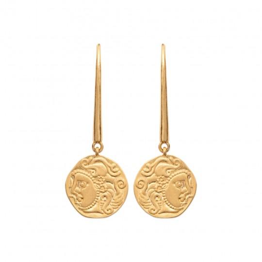 Drop Earrings Gold plated 18k - Women