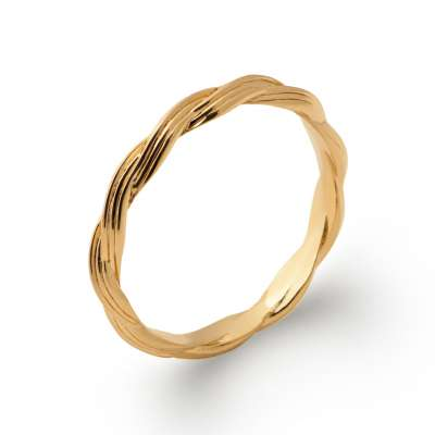 Anello tressée Placcato in oro 18k - Donna