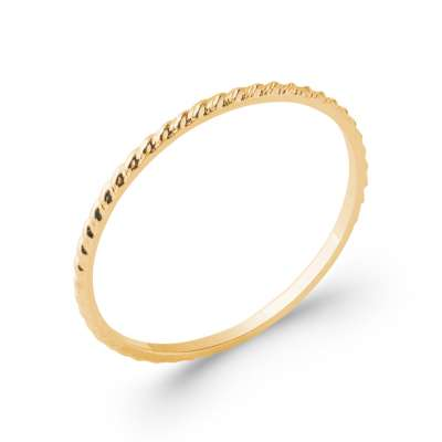 Anello fine originale Placcato in oro 18k - Donna