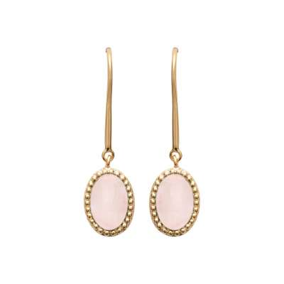 Placcato in oro 18k Quartz rose