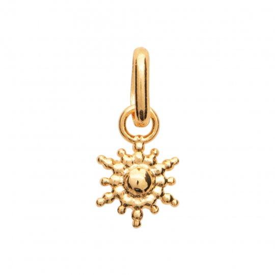 Pendants Etoile perlée 6mm Gold plated 18k - Women