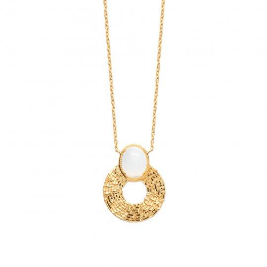 Necklace Pierre de lune Gold plated 18k - Women - 45cm