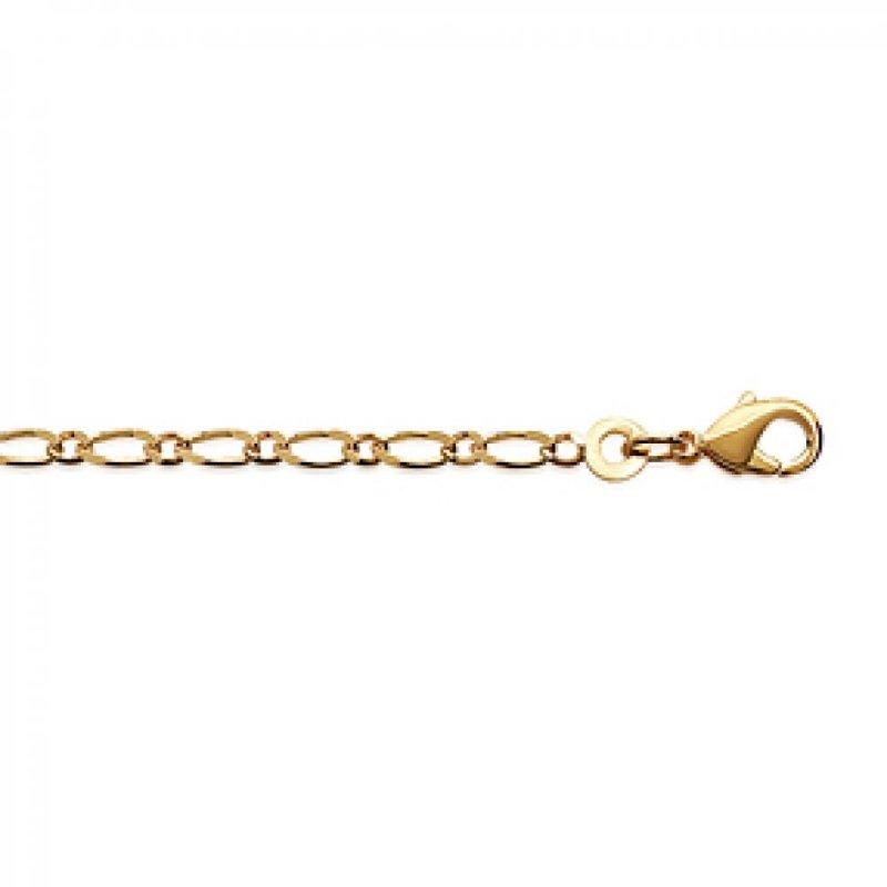 Cadena Figaro Chapado en Oro 18K - Hombre/Mujer - 50cm