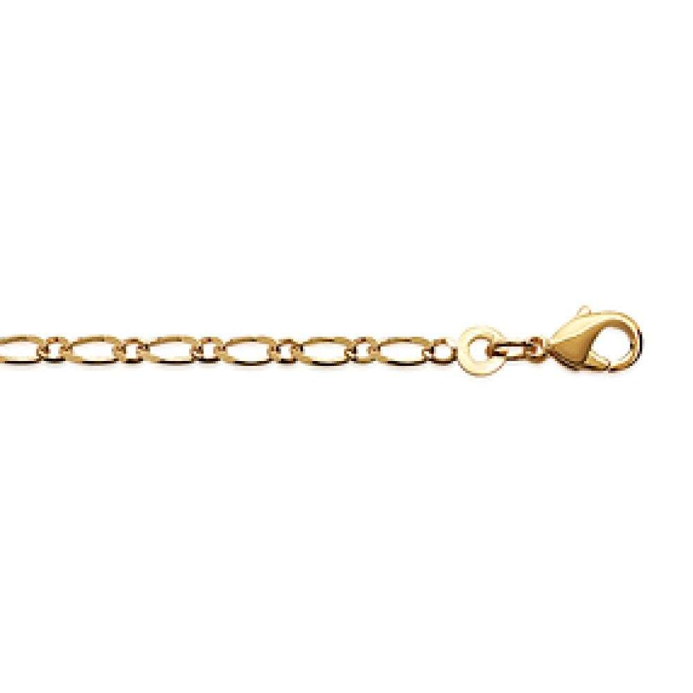 Chain Figaro Gold plated 18k - for Men/Women - 55cm