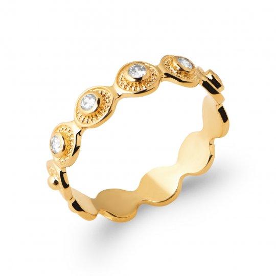 Ring Gold plated 18k - Zirconium - Women