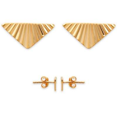 Earrings Triangle avec Reflets Gold plated 18k - Clous