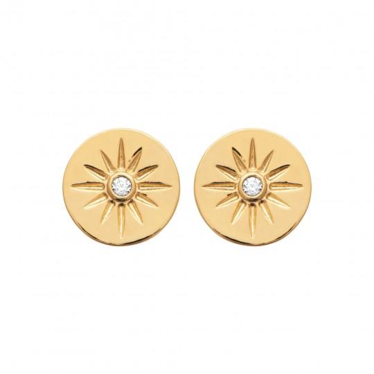 Ohrringe Vergoldet 18k - Zirconium - Damen