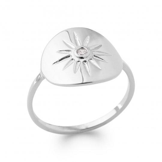 Ring Argent Rhodié - Zirconium - Women