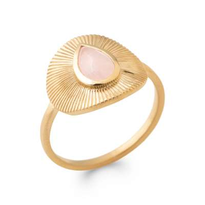 Ring Quartz Rose Gold plated 18k - Women
