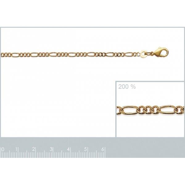 Bracciale Catena Figaro Placcato in oro 18k - Uomo/Donna - 18cm