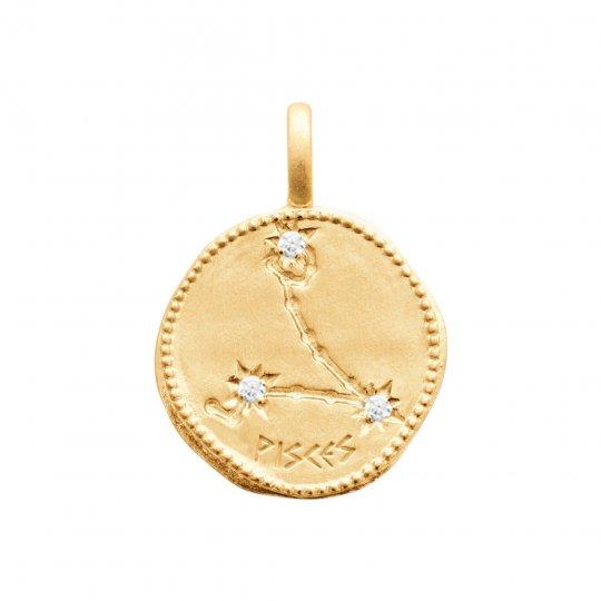 Anhänger Constellation FISCHEs Vergoldet 18k - Damen