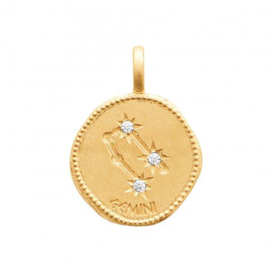 Colgante Constellation Gémeaux Chapado en Oro 18K - Mujer