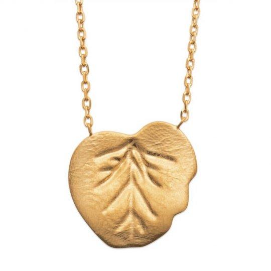 Collier Plaqué Or feuille d'arbre nature - Femme - 45cm