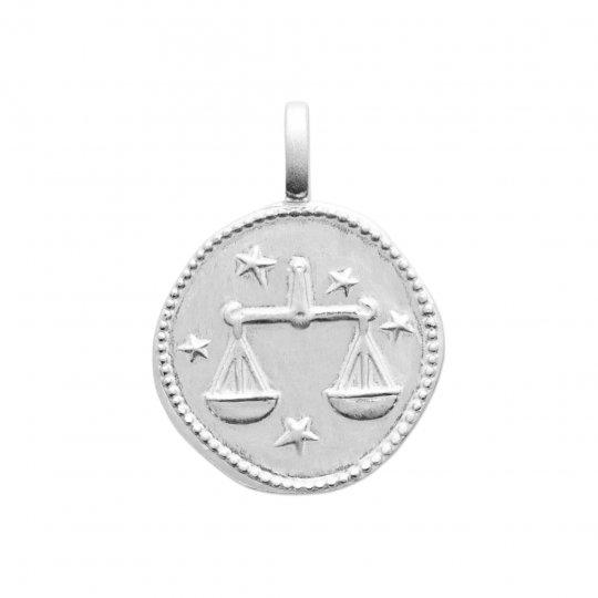 Pendentif Balance Argent Rhodié - Femme
