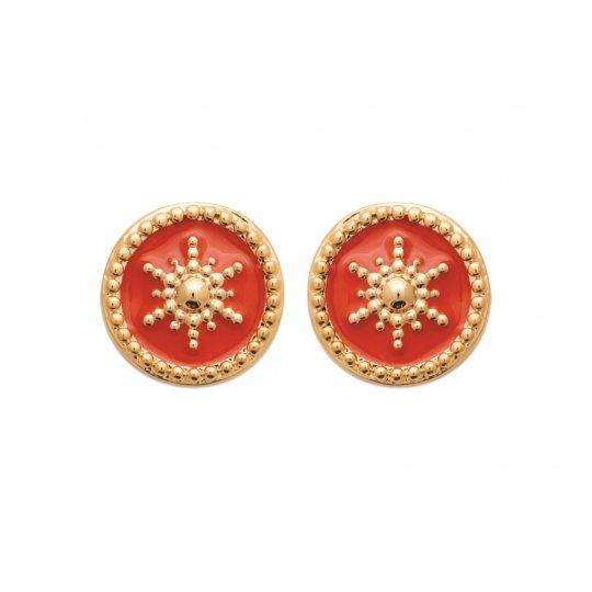 Earrings clous Émail Gold plated 18k - Women
