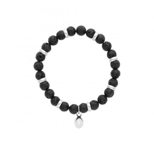 Bracelet Pierres de lave Acier 316L for Men Women Pierres...