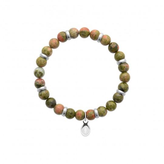 Bracelet unakite Acier 316L Pierres Naturelles Women for...