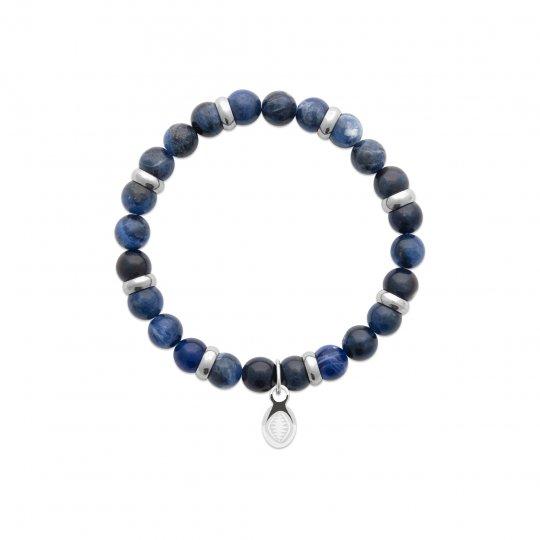 Bracelet Jaspe bleue Acier 316L Pierres Naturelles for...