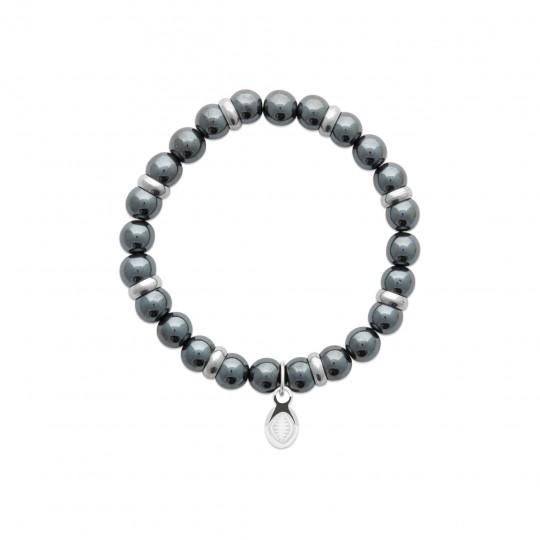 Bracelet Hematites Acier 316L - for Men Women - 60mm