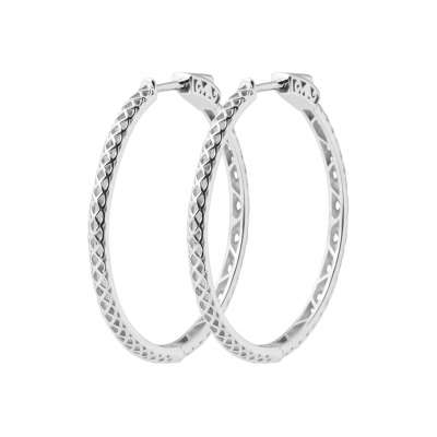 Hoop Earrings 30mm Argent Rhodié - Women