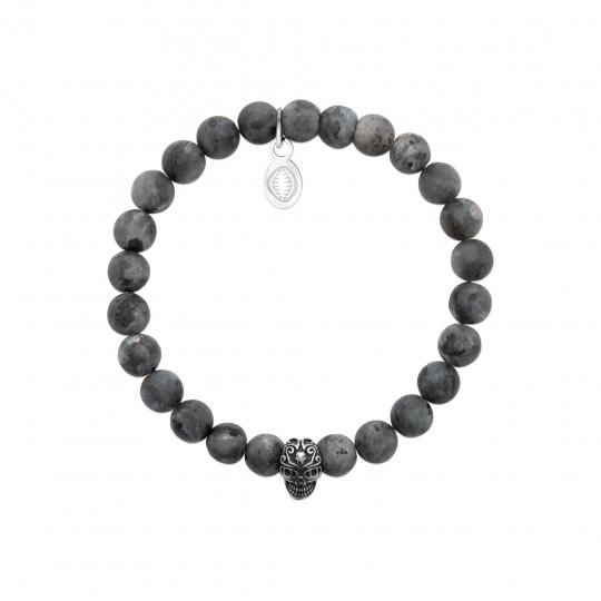 Bracelet Labradorite grise Acier 316L - for Men Women - 60mm