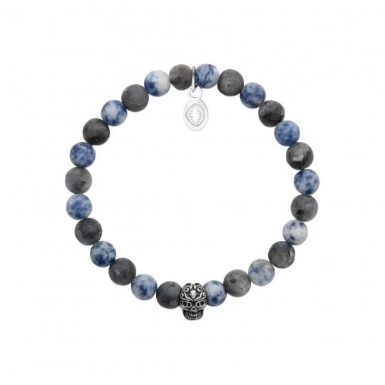 Bracelet Sodalite Pierres Naturelles Acier 316L for Men...