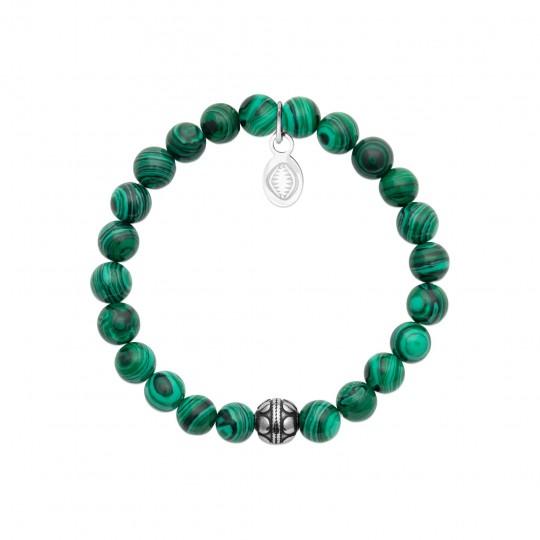 Long Size Necklace Acier 316L - Malachite - Women - 52cm