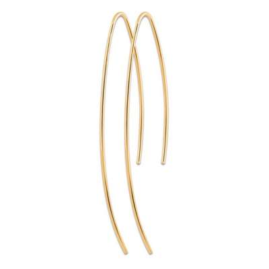 Earrings traversantes Gold plated 18k - Women