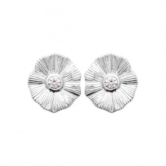 Earrings Argent Rhodié -...