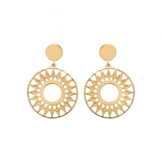 Drop Earrings soleil Gold plated 18k - Women