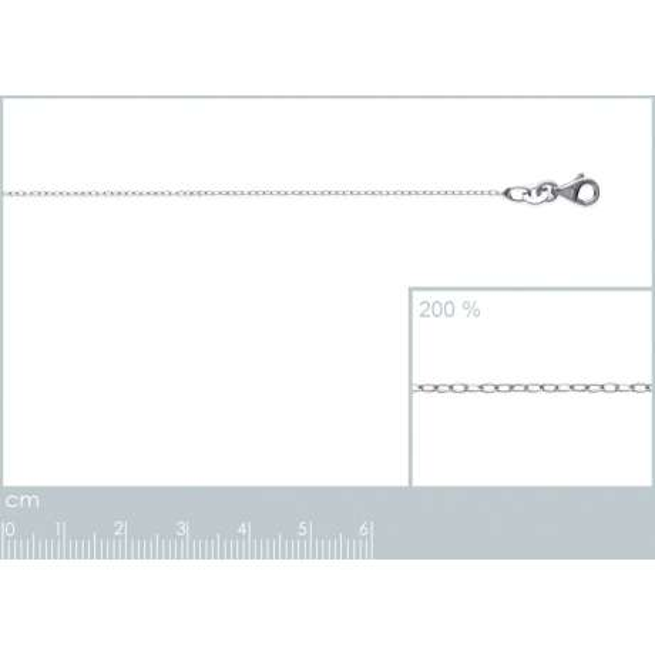 Catena de cou Forcat Argento Sterling 925 Rodiato - Uomo/Donna - 42cm
