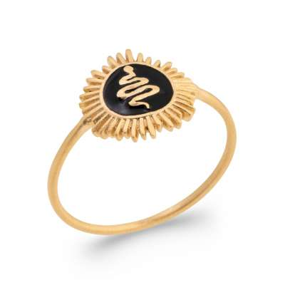 Ring Gold plated 18k -...