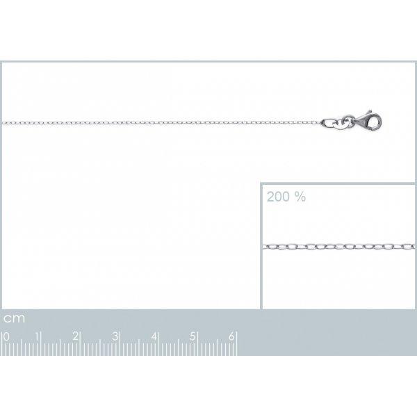 Catena de cou Forcat Argento Sterling 925 Rodiato - Uomo/Donna - 45cm