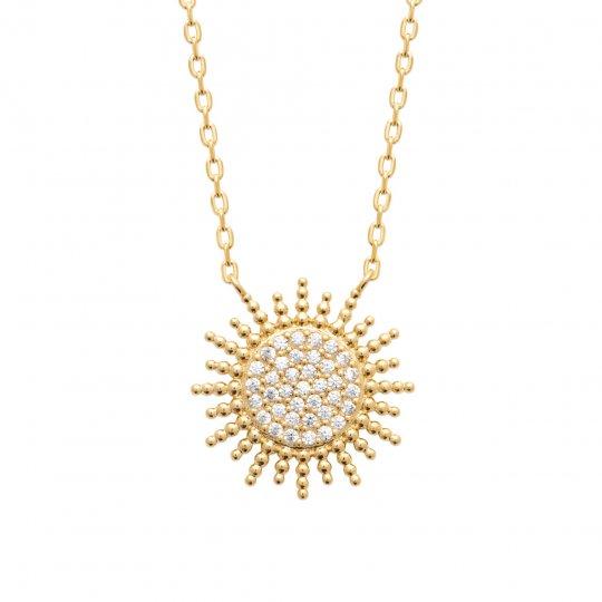Collana Placcato in oro 18k - Zirconia Cubica - Donna - 45cm