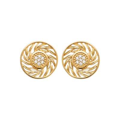 Earrings Gold plated 18k -...