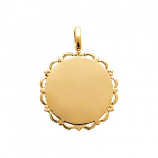 Ciondolo Placcato in oro 18k Da Incidere - Donna