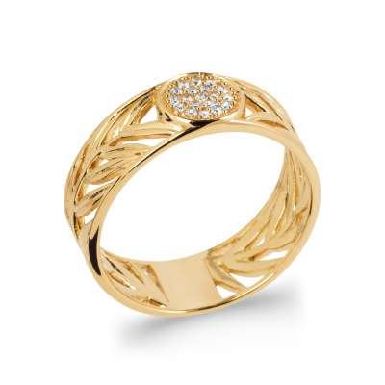 Ringe Vergoldet 18k 5 Mikron - Kubisches Zirkonoxid - Damen