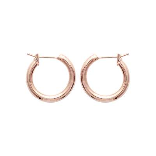 Hoop Earrings Gold plated 18k Rose - Women